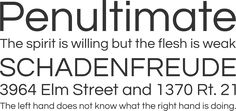 Free font and Google font - Questrial Font Phrases