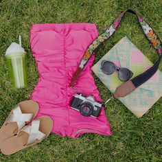 Summer essentials {Eliza in Cerise} + some of our favs #reyswimwear #whosaysithastobeitsybitsy #ethicalfashion  www.reyswimwear.com  Modest swimsuit. One piece swimsuits.