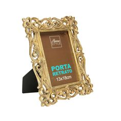 Porta-Retrato Antique Glam Dourado 13x18cm - Home Style