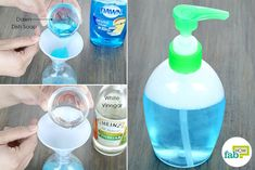 Mix dish soap with white vinegar to use Dawn dish soap for dog fleas