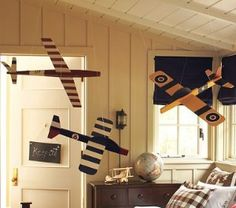 Hanging Clipper Airplanes For Son S Toddler Bedroom