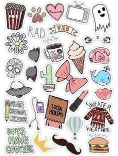 K a ka waii ! Printable Stickers, Cute Stickers, Planner Stickers, Tumblr Stickers, Aesthetic Stickers, Happy Planner, Cute Drawings, Doodle Art, Cute Wallpapers