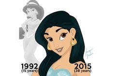 """Heute wäre Jasmin junge 38 Jahre alt. Und apropos jung: Zarte 15 war sie in Disneys """"Aladdin"""", als sie den gleichnamigen Herren traf."""