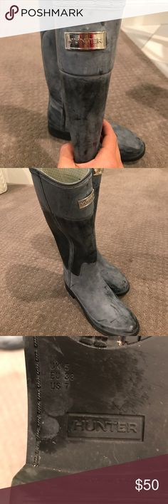 Unique Hunter rain boots! I've gotten so many compliments when I wear these unique Hunter Boots. They are darling and look so cute while out in the rain! Hunter Boots Shoes Winter & Rain Boots