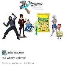 """ashcatqueen: """"so what's Voltron"""" Voltron Bucky Nico so Angelo Sokka Peridot Funyuns and the names of Cartoon people I don't know (one of them has a mustache just like Coran) Fricking Nico is there I'm done Form Voltron, Voltron Ships, Voltron Klance, Voltron Comics, Voltron Memes, Voltron Fanart, Geeks, Space Cat, Fandoms"""