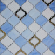 Moroccan Style Glass Tile from Edgewater in random colors