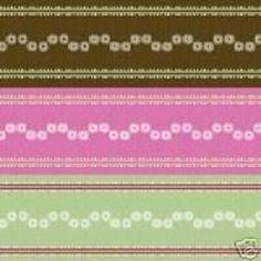 "Scrapbook Paper Garden Party Collection Handbag Ribbons 12"" x 12"" NEW #ArticFrog"