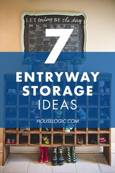 These clever entryway storage ideas will help you save time and hassle in the morning for you and your family. Find entryway organization solutions at HouseLogic.