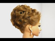 Bridal prom updo. Hairstyle for medium hair - YouTube