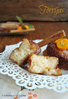 5 Senses in the kitchen: French toast flavored with orange and cinnamon