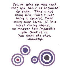 Hawkeye Quote (Matt Fraction)