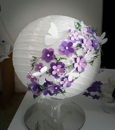 Lampara china decorada