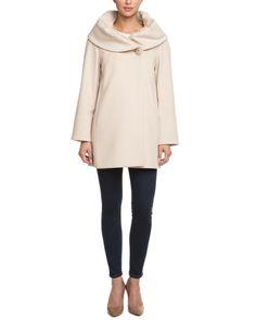such a chic coat - very Kerry Washington on Scandal - Cinzia Rocca Albino Wool Coat $499