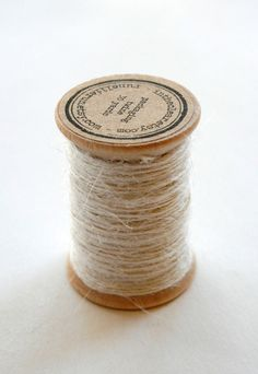 Burlap Twine  30 Yards on Wooden Spool  Cream Color by InTheClear, $3.95