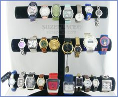 Wholesale lot 25 watches: Timex, Guess, Lorus , Mickey Mouse. All Working