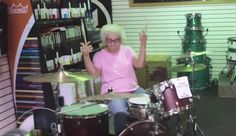 No one was prepared for grandma Mary's mad drumming skills when she sat down at a kit in a Wisconsin music store.