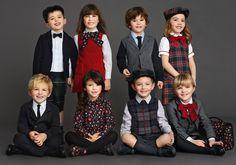 Zurück in die Schule Dolce & Gabbana Winter 2016 Kids Clothes Best Looks - Today Pin Dolce & Gabbana, Dolce Gabbana Hombre, Dolce And Gabbana Kids, Fashion Kids, Girl Fashion, Fashion 2016, Kids Clothing Brands, Children Clothing, School Dresses