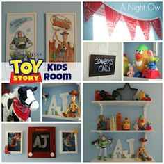 Toy Story Themed Kids Room for Leon ! Toy Story Nursery, Toy Story Bedroom, Toy Story Theme, Toy Story Party, Toy Story Birthday, Disney Rooms, Disney Nursery, Pixar Nursery, Disney House