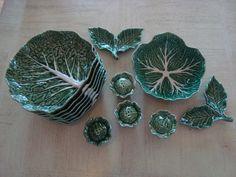 Bordallo Pinheiro Caldas Da Rainha Cabbage China by GardenOfOM