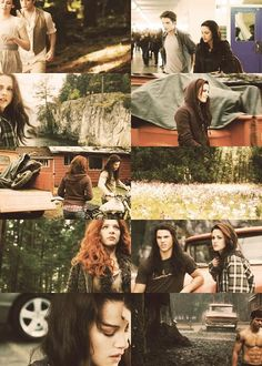 .A lot of different things going on here....New Moon and Bella having a hard time...depressed and Victoria out to kill her over James. Jacob trying to pull her out of depression over Edward leaving..then he starts changing....
