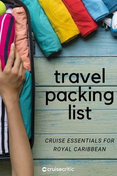 Before you zip your luggage, double-check that you have everything you'll need with our Packing For A Cruise, Packing List For Travel, Packing Tips, Royal Caribbean Cruise, What To Pack, Fashion Stylist, Zip, Vacation, Watch