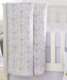 Wendy Bellissimo Nursery Separates Yellow Damask Quilt