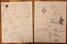 Quiet Time Art Game - each kid names something to draw and everyone adds the item to their drawing