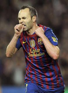 Iniesta scores against At Bilbao 2012 ( FC Barcelona)