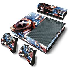 FriendlyTomato Xbox One Console and 2 Controllers Skin Set  SuperHero  XboxOne Vinyl >>> To view further for this item, visit the image link.Note:It is affiliate link to Amazon.