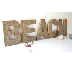 Rustic+Beach+Home+Decor++Barn+Wood+BEACH+by+SecondNatureWoodwork