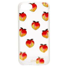 Sonix Peachy Keen iPhone 7 Case ($14) ❤ liked on Polyvore featuring accessories, tech accessories, peach, iphone cases, print iphone case, iphone hard case, metallic iphone case and transparent iphone case
