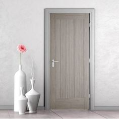 Somerset Light Grey Internal Door - Prefinished. #modern #home #living #interior