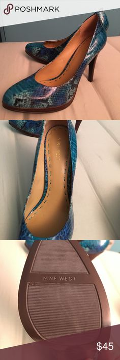 🎉NEW NINE WEST 🎉Rocha heels size 7 1/2 M New never worn size 7 1/2m Nine West blue heels! Absolutely gorgeous and classic style to add to your wardrobe! Nine West Shoes Heels