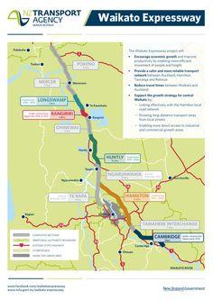 Map of the Waikato Expressway