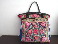 Oversized tote  Ethnic / Hip / Tribal / Hmong / by dazzlinglanna, 199.00