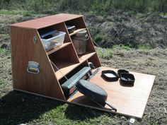 Items similar to Camp Kitchen - Camping Cupboard - Chuck Box on Etsy,This portable camp cupboard is a great way to keep all of your cooking gear and utensils in one handy place. Camping Diy, Camping Table, Camping Stove, Family Camping, Camping Gear, Camping Hacks, Outdoor Camping, Picnic Table, Truck Camping