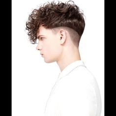 Curly disconnected undercut- edgy and disconnected