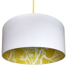 Cow Parsley Silhouette Lampshade In Mustard