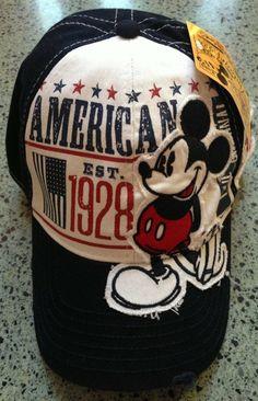 Walt Disney World Mickey Mouse 1928 Adult Size Baseball Hat Cap