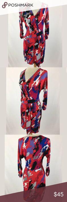 BCBG Max Azria dress SKU: SD15388  Length Shoulder To Hem: 37 Bust: 33 Waist: 28 Fabric Content: 93% rayon, 7% Spandex BCBGMaxAzria Dresses