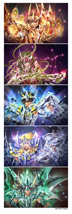 Saint Seiya by biggreenpepper.deviantart.com