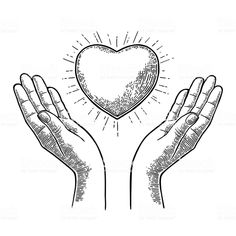 Illustration about Heart in open female human palms. Vector black vintage engraving illustration isolated on a white background. For web, poster, info graphic. Illustration of adult, palm, girl - 83763197 Engraving Illustration, Heart Illustration, Free Vector Graphics, Free Vector Art, Silhouette Tattoos, Silhouette Face, Islamic Cartoon, Religion Catolica, Tattoo Graphic