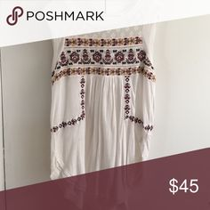Free People Embroidered Top Brand new!! Free People Tops