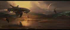 "scifigeneration: "" ART: ""Ship"" by Sergey Demidov """