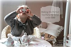 Seeking Lavender Lane: How to Make a Tea Party Table for under $50