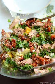 Moja Mama Gotuje...i bloguje.: Sałatka z tuńczykiem, awokado i brokułem Kung Pao Chicken, Breakfast Ideas, Mango, Keto, Healthy, Ethnic Recipes, Food, Breakfast Omelette, Cooking