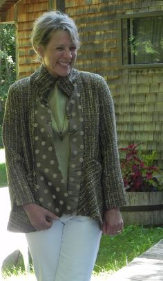 Jacket sewn in Weave, Cut and Sew with Mary Sue Fenner at Sievers.