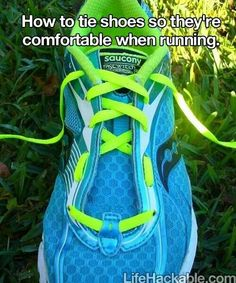 How to tie shoes so they are comfortable when running.