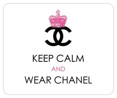"""COCO CHANEL-Inspired Royal Crown Designer Logo Mousepad: """"Keep Calm and Wear Chanel"""". $9.99, via Etsy."""