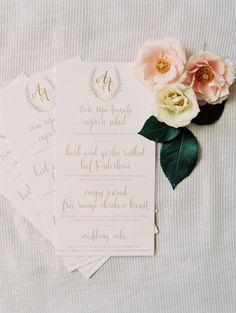 Elegant invitations: http://www.stylemepretty.com/2015/01/19/elegant-destination-vail-wedding/   Photography: Sara Hasstedt - http://www.sarahasstedt.com/